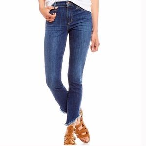 Joe's Jeans Mid Rise Skinny Frayed Ankle, 26